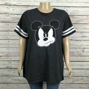 Disney Grumpy Angry Mickey Mouse Graphic T-shirt